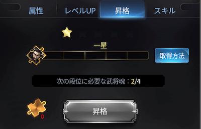 武将の星数
